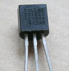 Fotografía del componente DS1820