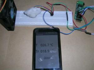 Psicrómetro digital basado en DS1820, 16F886, HC06 y android