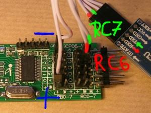 Conexión entre PIC 16F886 y módulo bluetooth HC-06