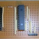 Paso 4 en la construcción de placa entrenadora 30F4012